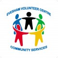 Evesham Volunteer Centre Community Services with circle of figures holding hands